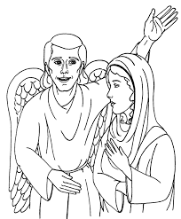 mary angel gabriel coloring art u0026 culture free