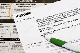 Advertising Sales Manager Text Classified Ad Jobs In The Newspaper Concept With Resume And