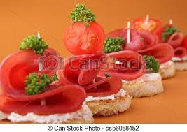 food canapes canapes buffet food canapes toasts stock photo search pictures