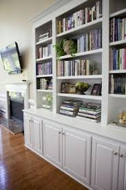 Bookcase With Doors White Library Storage Cabinet Foter