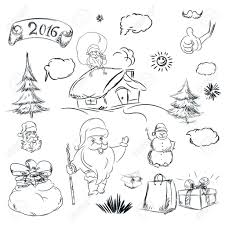 pencil drawing of santa claus pencil sketch for christmas with