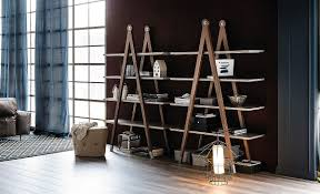 Rolling Bookcase Ladder by Ideas Contemporary Bookshelves For Inspiring Unique Interior