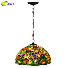 Stained Glass Pendant Light Fumat Stained Glass Pendant L European Gadern Tulips Shade