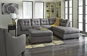 Tufted Sectional Sofa by Benchcraft Maier Charcoal 2 Piece Sectional With Right Chaise