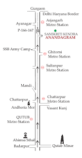 Blue Line Delhi Metro Map by Visit Us