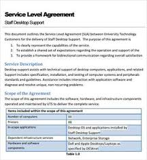 here is a preview of this service level agreement template