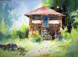 Painting Of House by Buy Painting Konkan House Artwork No 6624 By Indian Artist Sanjay