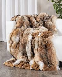 Faux Fur Blankets And Throws Full Pelt Coyote Fur Blanket Fur Throw Fursource Com