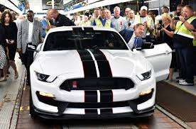 michigan mustang ford mustang shelby gt350rs roll the line at flat rock plant