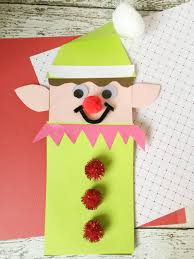 elf brown paper bag craft for kids