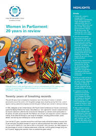 women s women in parliament 20 years in review inter parliamentary union