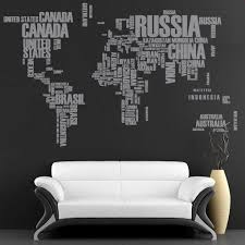 world map with country names contemporary wall decal sticker wall decal world map with country names for housewares 133 00
