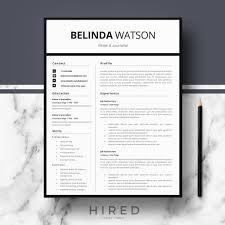 Professional Resume Template Resume Templates Hired Design Studio