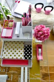 Office Desk Organizers Accessories by Organization Poppin Desk Pink And White Kate Spade Accessories