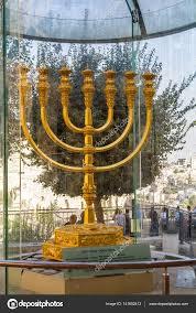 jerusalem menorah golden menorah in jerusalem israel stock editorial photo