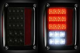 led lights for jeep wrangler jk recon 264234rbk smoked led lights for jeep wrangler jk