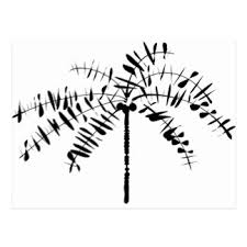 tree sketch postcards zazzle
