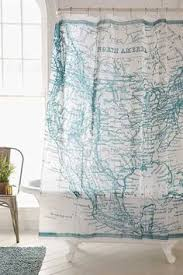 Shower Curtain Map Farmhouse Shower Curtain Chicken Rustic Vintage Look Americana