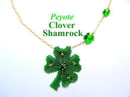 tutorial peyote shamrock clover pendant or pin pattern to