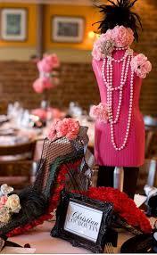 Fashion Themed Room Decor Black White U0026 Pink Fashion Themed Bridal Shower Black White