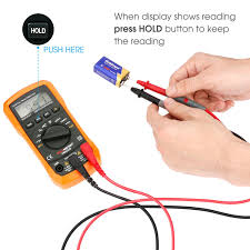 flepow ms8233d auto ranging multimeter electronic measuring