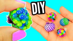 diy mini stress balls orbeez mesh slime stress miniatures