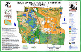 Florida Spring Training Map by Florida Orienteering