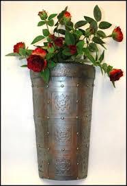 Tin Vases Embossed Tin Wall Vase Julia Andrus