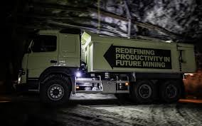 volvo big rig volvo tests autonomous trucks in a mine in sweden w video