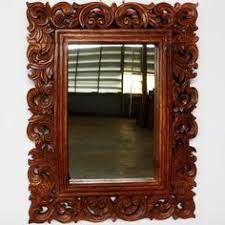 carved wood framed wall balinese style carved mirror frames kouboo global product