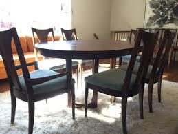 Modern Walnut Dining Chairs Mid Century Modern Walnut Dining Set By Broyhill Emphasis Epoch