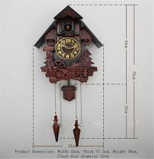 european cuckoo clock chime and light control hand carved wood