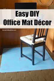 Diy Desk Chair Easy Diy Office Mat Decor