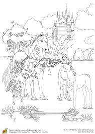 coloriage bella sara avec le livre enchanté