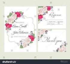 Vintage Floral Frame For Invitation Wedding Baby Shower Card Wedding Floral Template Collectionwedding Invitation Thank Stock