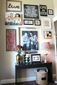 Front Hallway Table Designing A Gallery Wall Pinspiration Framed Quotes Entry