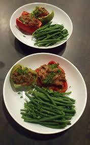 cuisiner les l馮umes sans mati鑽e grasse poivrons farcis à la viande et à l aïl sans matière grasse et