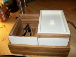 ikea charging station convert an ikea bath container into a stylish charging station