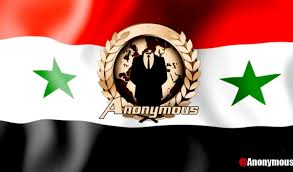Anonymous Flag Anonymous Is Breaking Into Computer Systems Used By The Assad