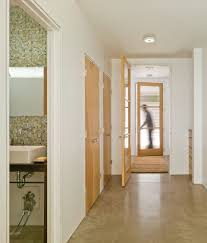 faux finish concrete floor hall farmhouse with stained concrete