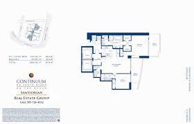 north park residences floor plan continuum floor plans north tower continuum south beach condo