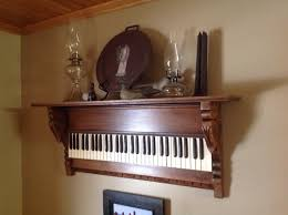 Repurposing Old Furniture by Keyboard Shelf From Antique Pump Organ Primitive Upcycled