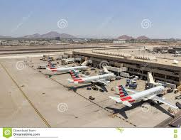 Phoenix Sky Harbor Terminal 4 Map by American Airlines Parked At Phoenix Skyharbor Airport May 28th