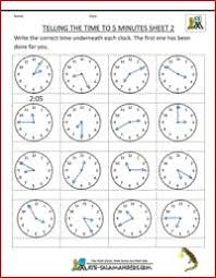 telling time sheets quarter past and to sheet 1 2nd grade