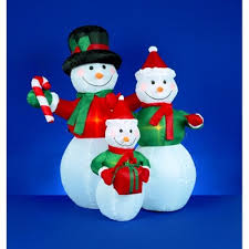 4 foot inflatable snowmen family holding gifts new inflatable
