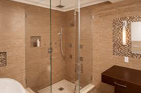 stone wall tiled bathroom shower with glass door design eborhancom