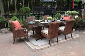 Wicker Patio Table Set Aerin Collection All Weather Wicker Patio Furniture 6 Person