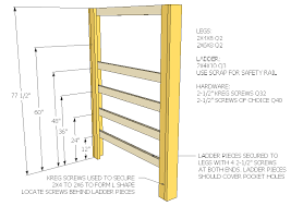 Plans To Build A Bunk Bed Ladder by How To Build A Full Size Loft Bed Jays Custom Creations