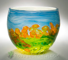 art glass fish ring holder images Hand blown glass bowls robbins ranch art glass png