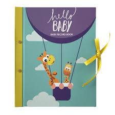 baby 1st year book hello baby year record book paper crush